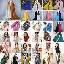 Hot Women's Soft Floral Long Scarf Neck Wrap Shawl Stole Scarves Beachwear Party