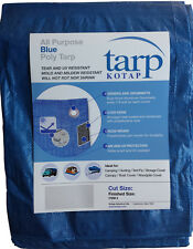 All-Purpose Blue Poly Tarp Tear and UV resistant - Great for Roofs, boats, etc