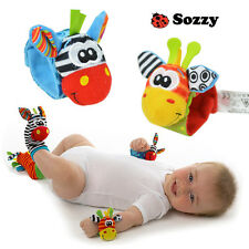 Hot Sozzy Baby Infant Rattle Foot Socks and Wrist Toys Animals 0 - 1 Years F0