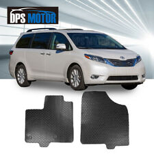 2 Pcs All Weather Front Rubber Heavy Duty Floor Mats For 11-17 Toyota Sienna
