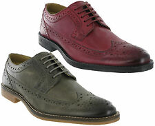 Base London Milton Brogues Mens Leather Formal 5 Eye Lined Lace Up Shoes UK6-12