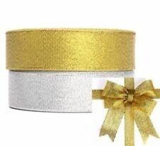 1Roll-25Yards 3/8 Sparkle Ribbon Shimmer Metallic Wedding Gift Wrapping M
