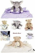 Blankie Teddy or Ellie Soft Toy/Comforter/Keepsake/Blanket New Baby Gift