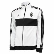 adidas Mens Gents Football Soccer Juventus 3 Stripe Track Jacket Top - White