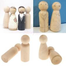 5pcs /10pcs Unfished DIY Wooden People Peg Dolls Cake Toppers Craft Toys DIY