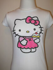 NEW Girl's Kid's HELLO KITTY T-SHIRT TEE  White Old Navy S L XL Cupcakes