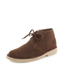 Mens Real Suede Casual Lace Up Desert Ankle Boots, Smart Casual Shoes Size 6-12