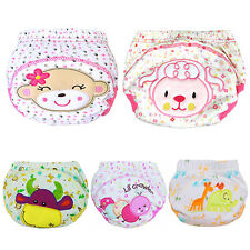 Baby Cotton Training Pants Reusable Cloth Washable Infant Nappies Diaper Sassy