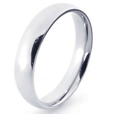 Simple Womens Mens silver plated Smooth Promise wedding Ring Size 7 8 9 10