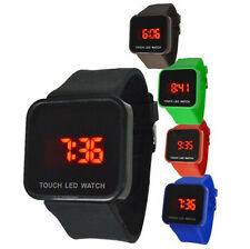 Fashion Unisex Band Touch Screen Led Digital Display Sport Wrist Watch