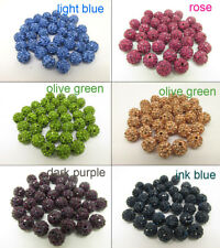 grade AAA 6 Line 10 mm 100 PC Cz Crystal Disco Ball Shamballa  Beads 6  color