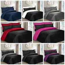 6 PCs MICROFIBER BED SET 4 PILLOWCASES DUVET COVER FITTED SHEET HYPOALLERGENIC