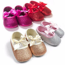 Cute Baby Kids Girls Lovely Glitter Slip On Casual Soft Sole Crib Walking Shoes