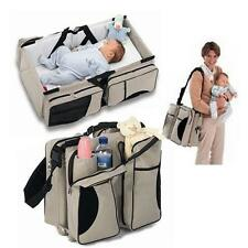 Baby Diaper Travel Bag Changing Station Portable Infant Nursery Crib Folding Bed