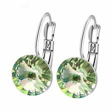 GP Gold Plated Hoop Stone 10mm Earrings Statement Crystal Fashion Jewelry Gift