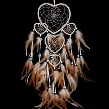 New Heart Shape Dream Catcher with Feathers Wall Hanging Decoration UTAR01