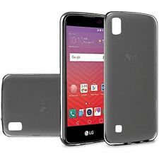 For LG X Power Case, Slim Fit Skin TPU Cover [Stylus+ Car Charger]