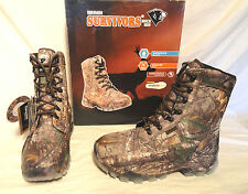 """HERMAN SURVIVORS MENS WATERPROOF INSULATED 8"""" HUNTING BOOT, SIZE 10.5 WIDE, NEW"""