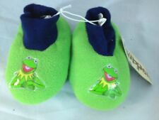 Muppets Kermit Frog boy sockto slippers youth L 9/10 toddler boy