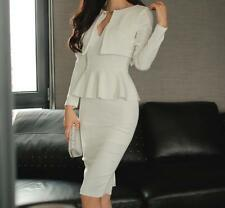 Sexy Women Long Sleeve Slim V-Neck Ladies Cocktail Party Evening Short Mini Dres