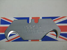 SHEFFIELD REPLACEMENT HEAVY DUTY STANLEY UTILITY KNIFE BLADES CONCAVE, HOOKED