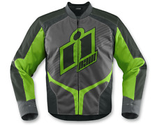 Icon Overlord 2 Mens Green Motorcycle Riding Jacket [ALL SIZES]