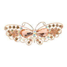 Vintage Elegant Hairpins Hair Barrette Clip Crystal Butterfly Hair Accessories
