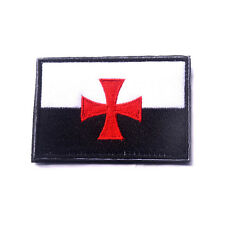8cm Badge Teutonic 3D Embroidery Cross Knights Templar Patch Morale Armband