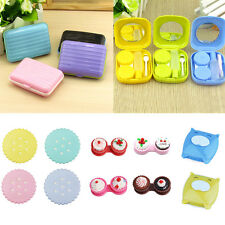 Mini Cute Storage Contact Lens Holder Case Mirror Box Container Travel Outdoor