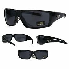 Locs Mens Gangster Squared Rectangular Cholo Warp Sport Sunglasses