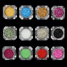 UP 1 Box Muilt-Color Nail Sequins Candy Glass Paper Glitter Manicure Decoration
