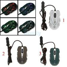 USB Wired Optical Game Gaming Mouse 10 Buttons Adjustable 4000 DPI Laptop