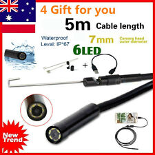 7mm Android Phone Endoscope IP67 Inspection Borescope HD 6 LED Video Camera Tube