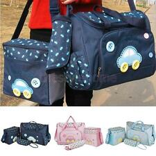 4Pcs Multi-Function Baby Diaper Nappy Bag Mummy Travel Tote Changing Handbag Set