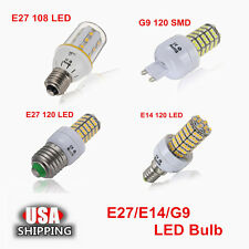 1/2x Universal E27/E14/G9 108 120LED SMD Warm White 5W Corn Light Bulb 400LM US