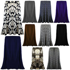 New Ladies Womens Long Gypsy Skirt MAXI Plus Elastic Waist Jersey Dress UK 12-22
