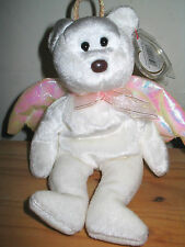 TY BEANIE BABY HALO THE ANGEL BEAR 1998 RARE BROWN NOSE