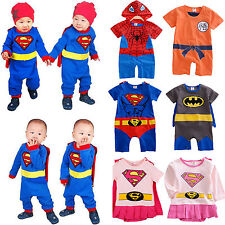 New Infant Boy Girl Baby Super Hero Romper Outfit Suit Party Fancy Dress Costume