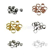 MagiDeal 10x Adjustable Round Ring Glue On Blank Base 12mm Cabochon Ring Setting