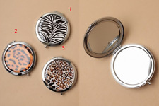 Double sided Compact Mirror with  Animal  designs.