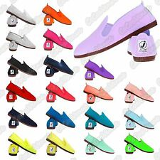 New Unisex Mens Ladies Flossy Javer Espadrille Plimsole Pumps Flat Canvas Shoes