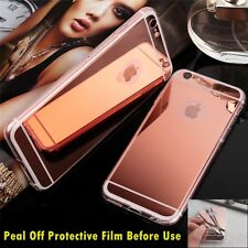 Luxury Ultra-thin TPU RoseGold Mirror Metal Case Cover for iPhone 5 5s {BU783
