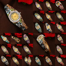 WOMEN'S LUXURY FLOWER RHINESTONE OVAL DIAL QUARTZ WRIST WATCH BRACELET RECOMMEND