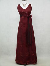 Cherlone Satin Burgundy Ball Wedding/Evening Gown Prom Formal Bridesmaid Dress