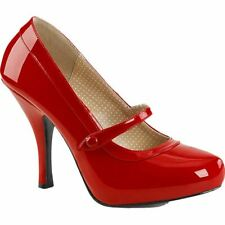 Pleaser PINUP-01 Hidden Platform Mary Jane Pump Red Size 9-16 Retro Rockabilly
