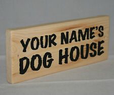 Personalised Name DOG HOUSE Hanging Sign Plaque Puppy Kennel Pet Bedroom Outdoor