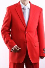MENS TWO BUTTON SUPERIOR 100 RED DRESS SUIT, SML-60212S-60250-RED