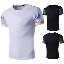 Fashion Men's Slim Fit Short Sleeve Muscle Summer Casual Basic Tee T-shirt Tops
