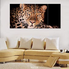 Modern Home Decor Canvas Painting HD Print Picture Art Animal Leopard 4pcs