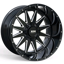 (4) FOUR 20X12 OFF ROAD WHEELS XTREME MUDDER CHEVY GMC FORD BLACK -44 OFFSET
